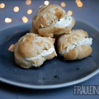Savoury Profiteroles with Camembert Creme