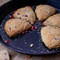 Pomegranate Scones with Vanilla