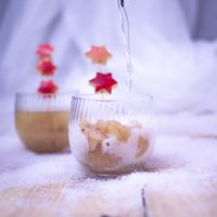 Spiced Apple Sorbet with Apple Champagne